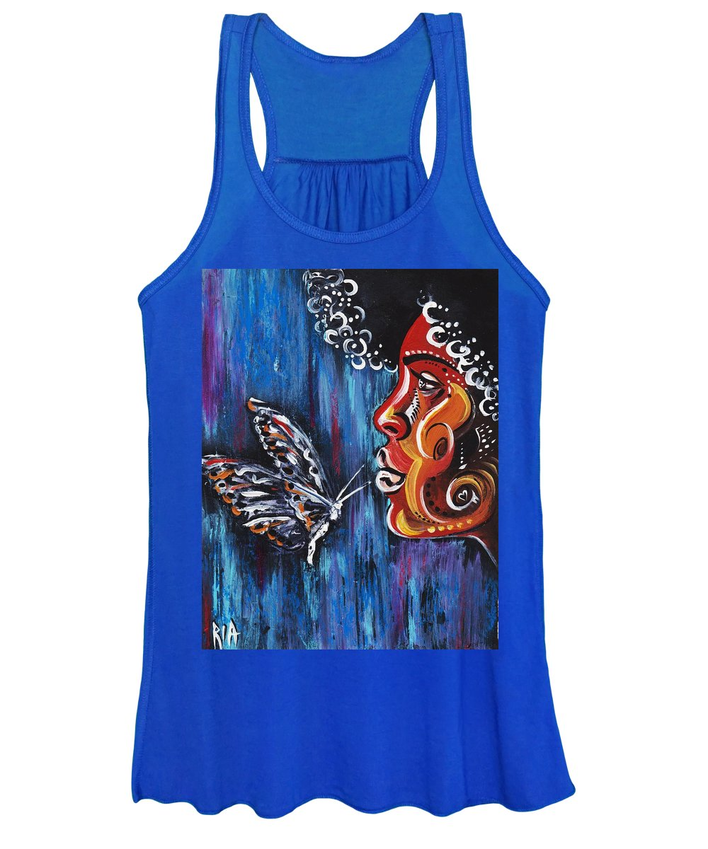 Butterfly Women's Tank Top featuring the photograph Fascination by Artist RiA