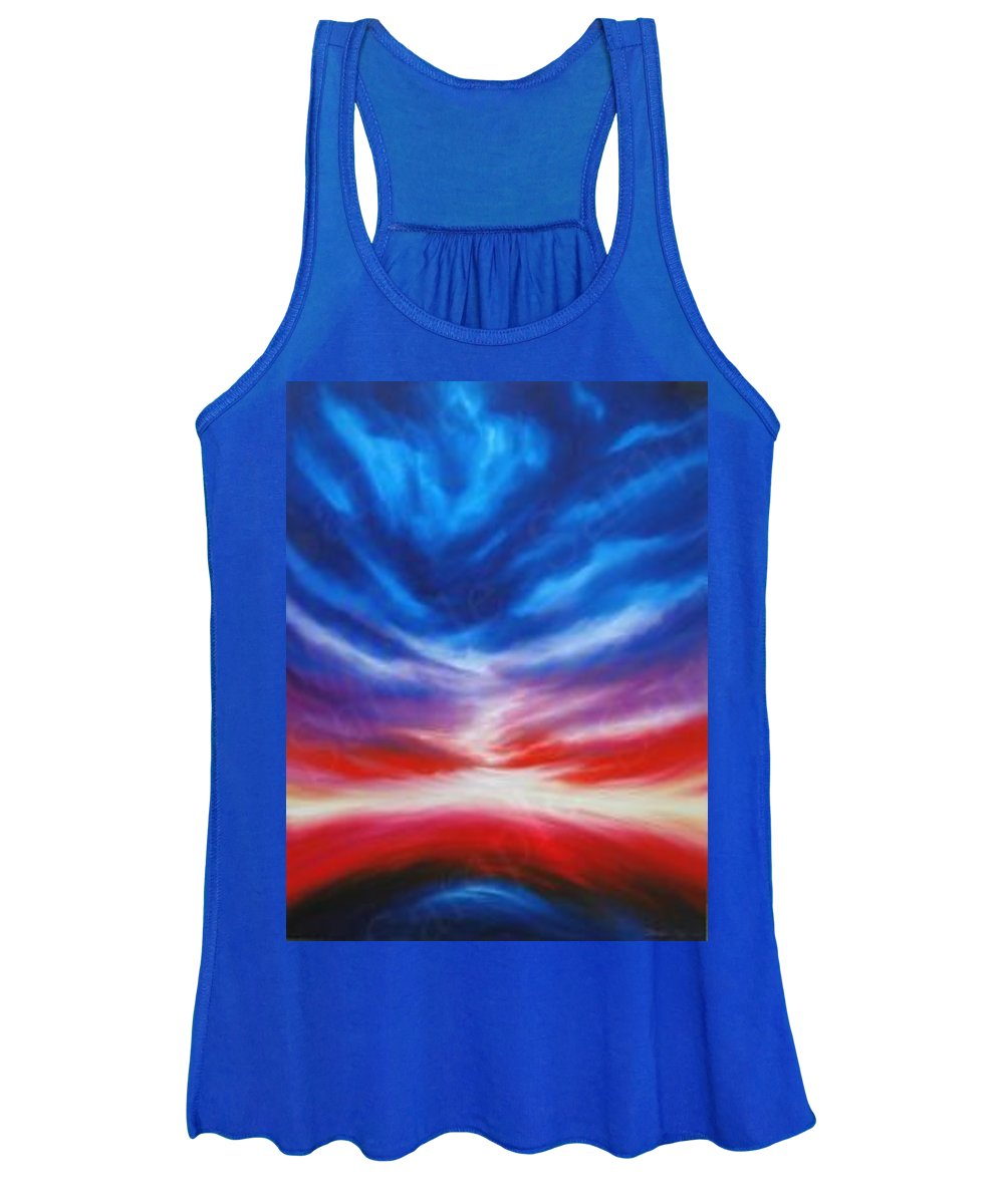 Tempest Women's Tank Top featuring the painting Genesis III by James Christopher Hill