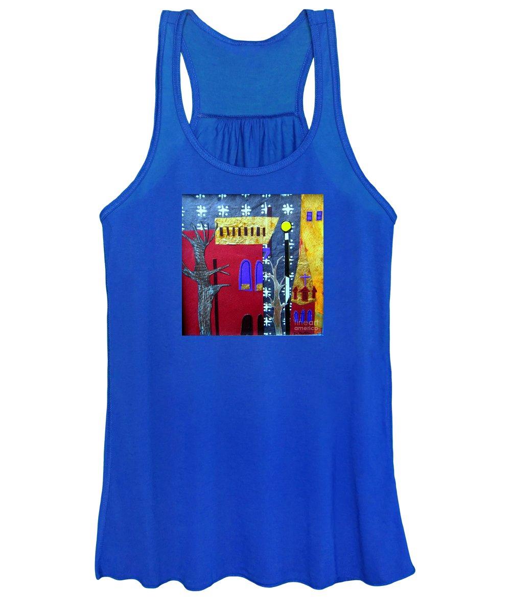 City Women's Tank Top featuring the mixed media Snowstorm Backbay by Debra Bretton Robinson