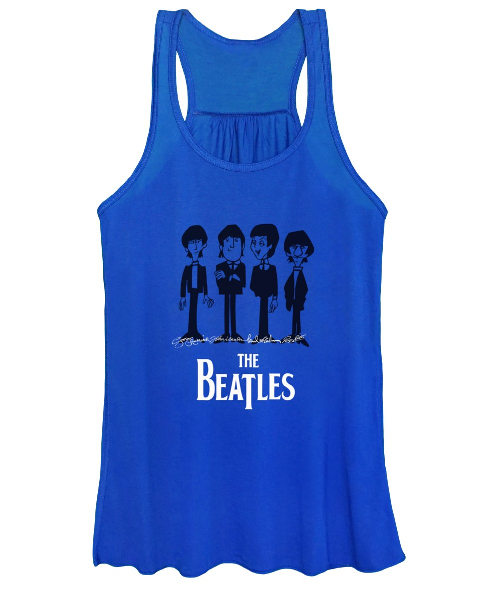 The Beatles Women's Tank Top featuring the mixed media Beatles by Marvin Blaine