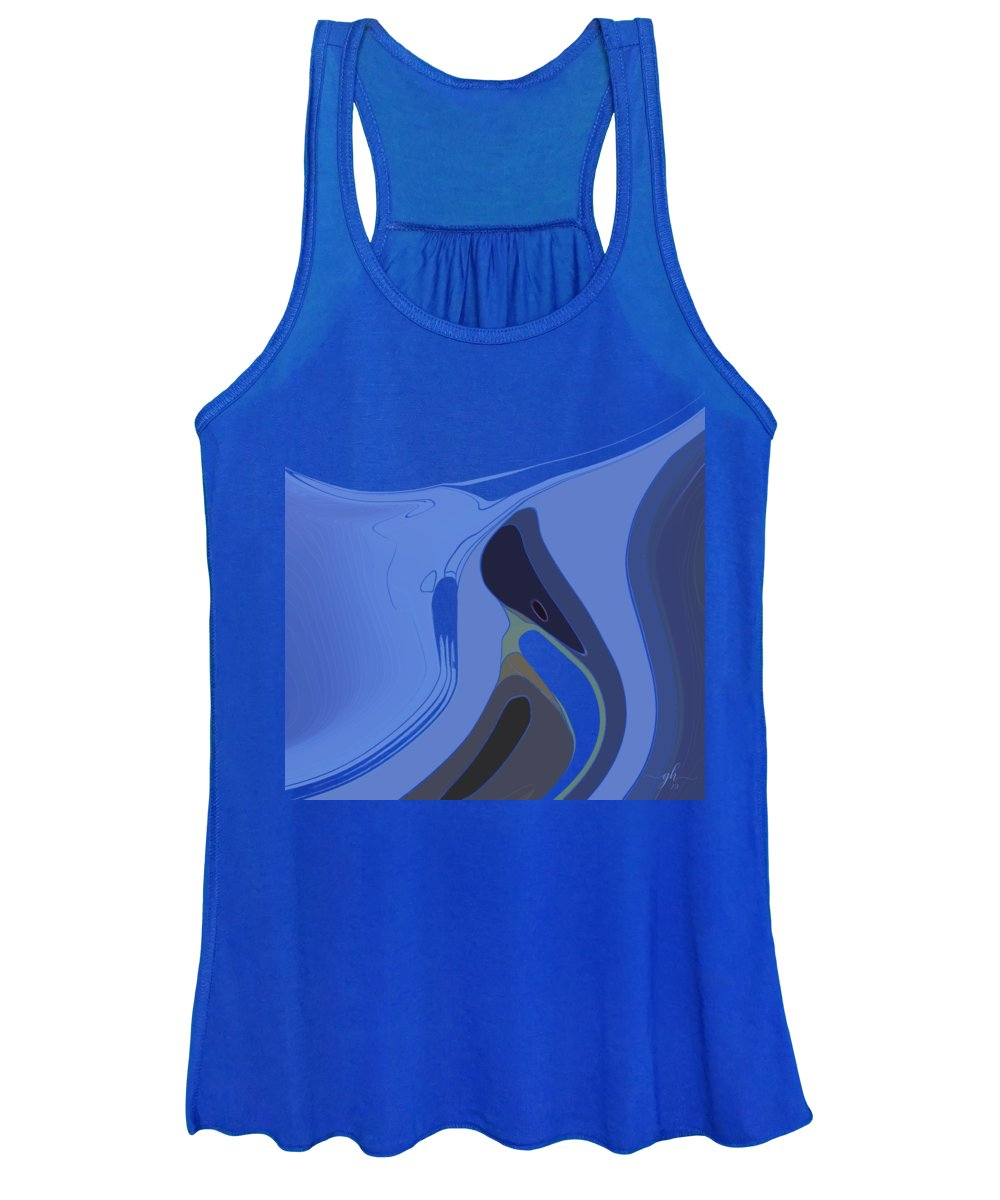Curves Women's Tank Top featuring the digital art Currents by Gina Harrison