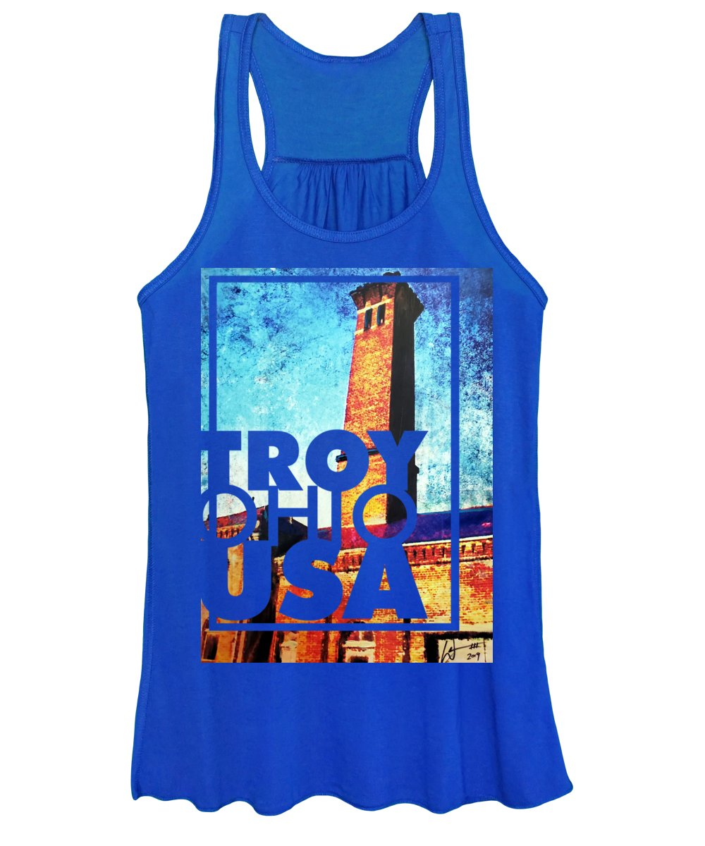 Troy Women's Tank Top featuring the mixed media Power Plant by William III