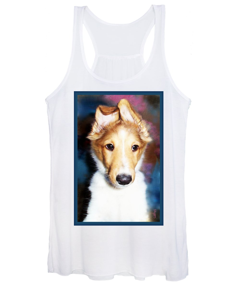 Photography Women's Tank Top featuring the photograph Wonky Reception by Paula Ayers