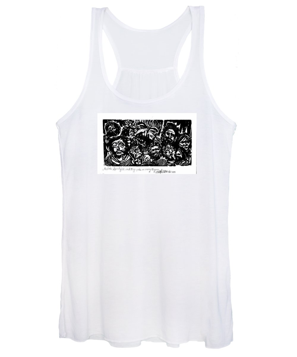 And The Spirit Fell Women's Tank Top featuring the relief And the Spirit Fell by Seth Weaver