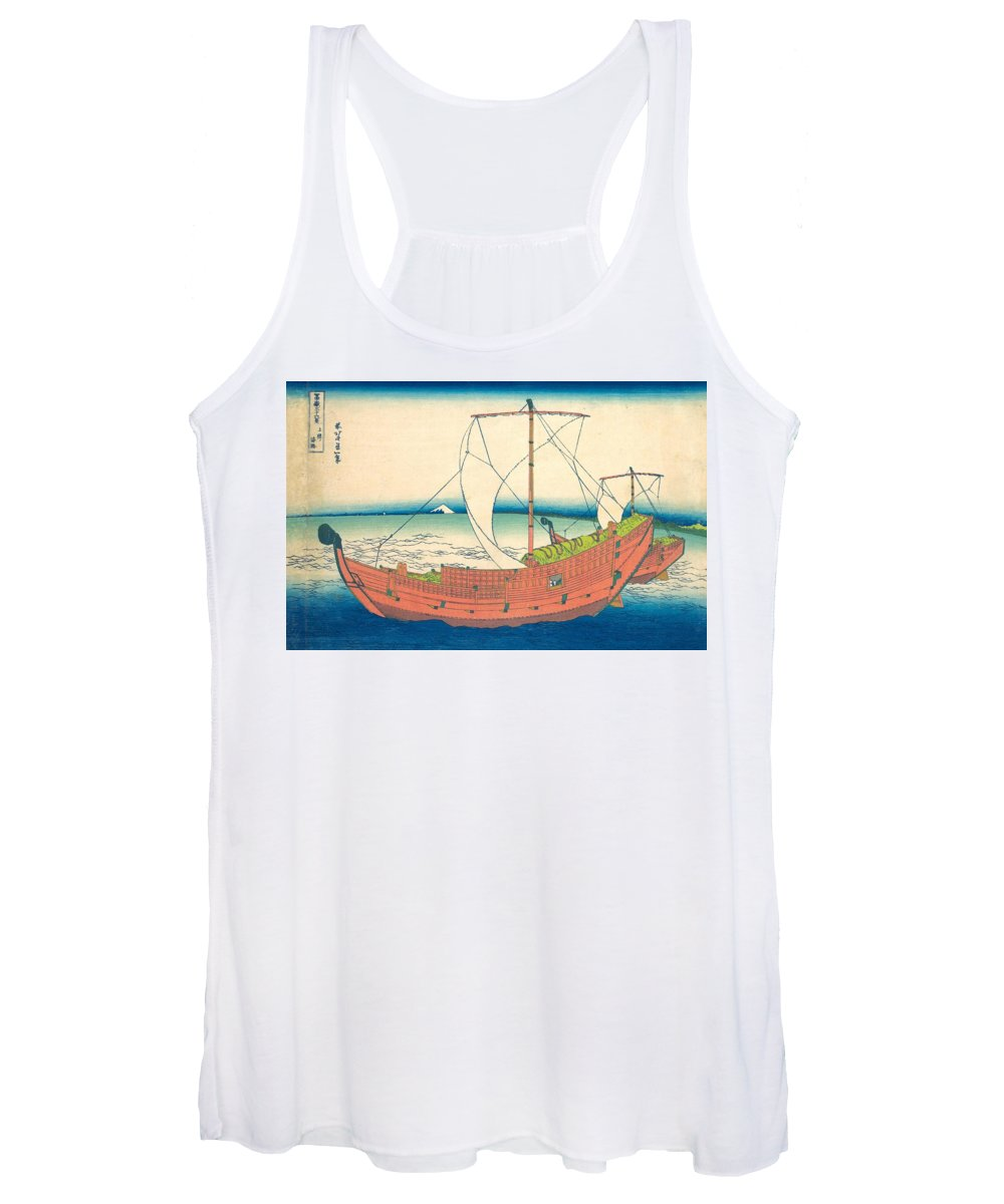 1830-1832 Women's Tank Top featuring the painting At Sea Off Kazusa by Katsushika Hokusai