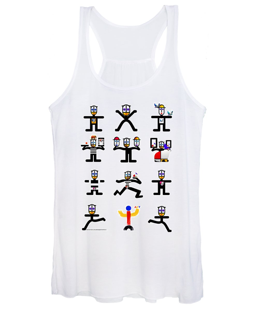 Figures Women's Tank Top featuring the digital art Character Act by Charles Stuart