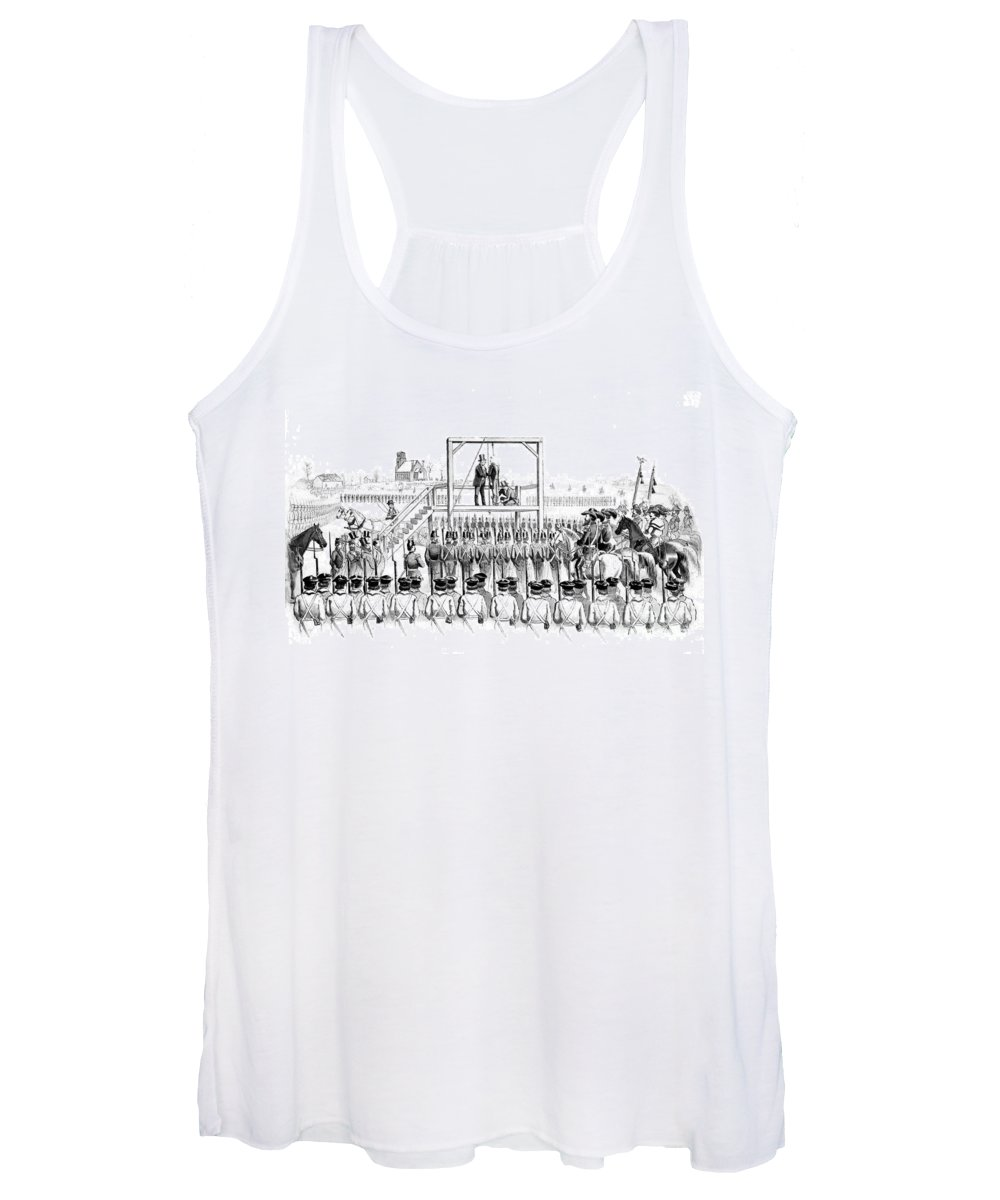 History Women's Tank Top featuring the photograph Execution Of John Brown, American by Photo Researchers