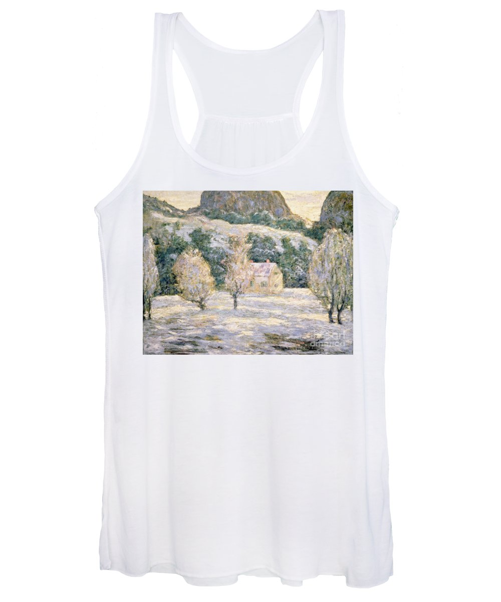 Winter Women's Tank Top featuring the painting Winter by Ernest Lawson