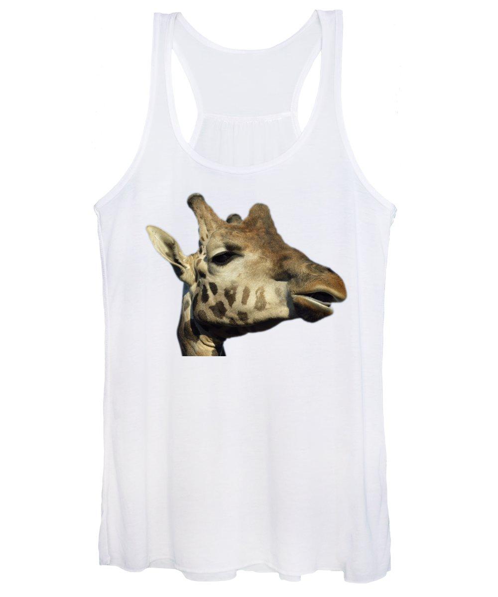Giraffe Women's Tank Top featuring the photograph Baringo Giraffe by George Atsametakis