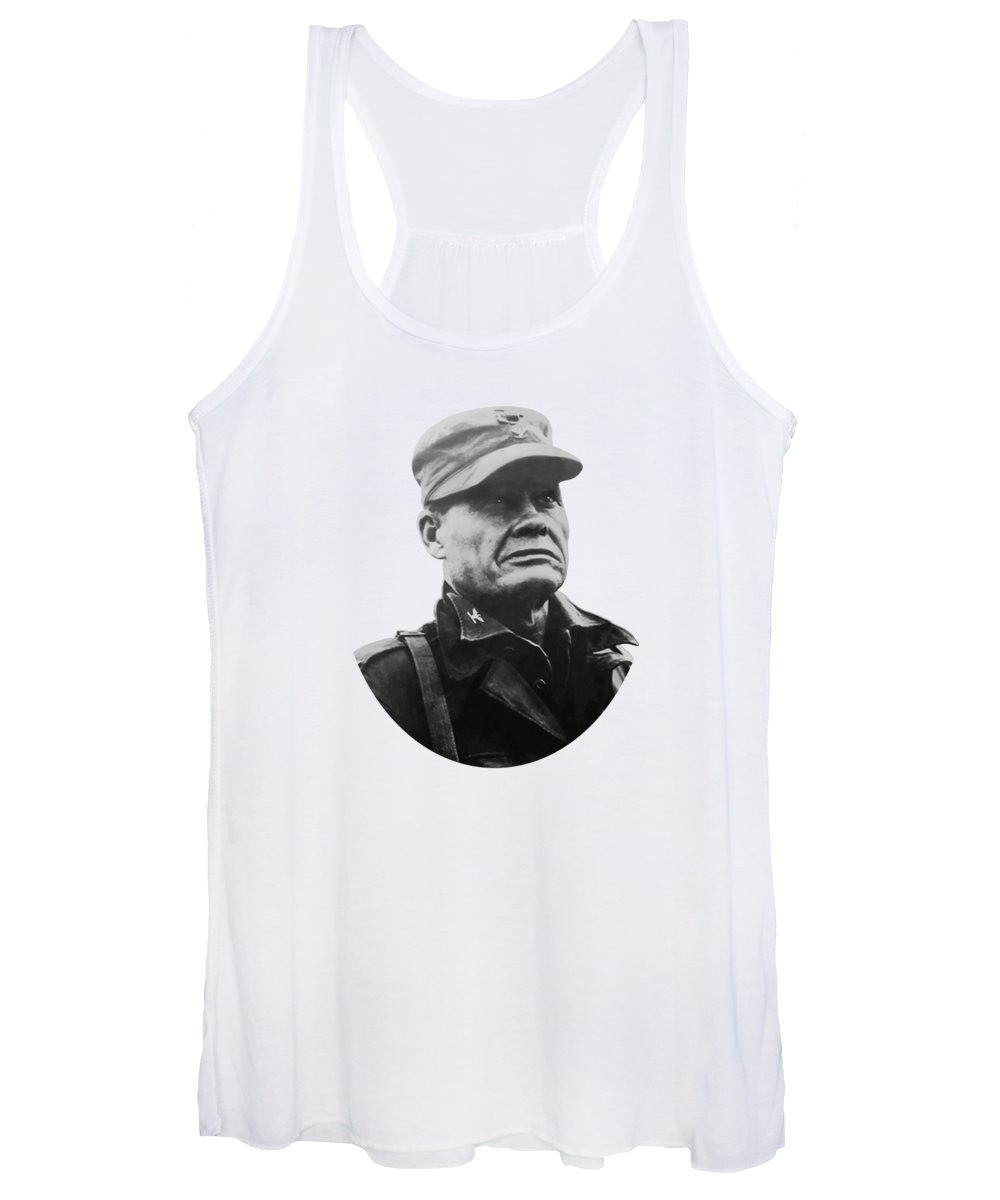 Chesty Puller Women's Tank Top featuring the painting Chesty Puller by War Is Hell Store
