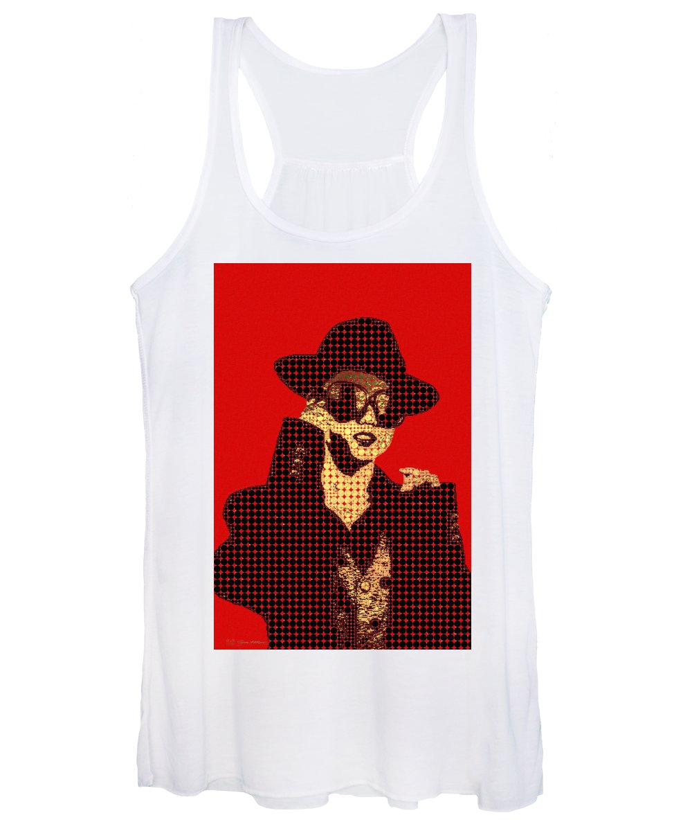 'visual Art Pop' Collection By Serge Averbukh Women's Tank Top featuring the photograph Fading Memories - The Golden Days No.1 by Serge Averbukh