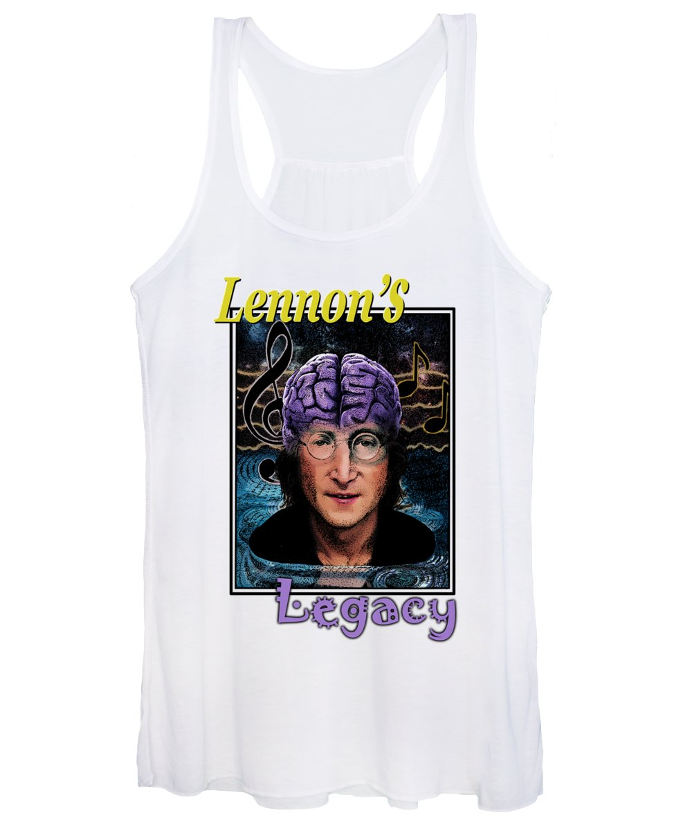 T-shirts Women's Tank Top featuring the drawing Lennon's Legacy by Joseph Juvenal
