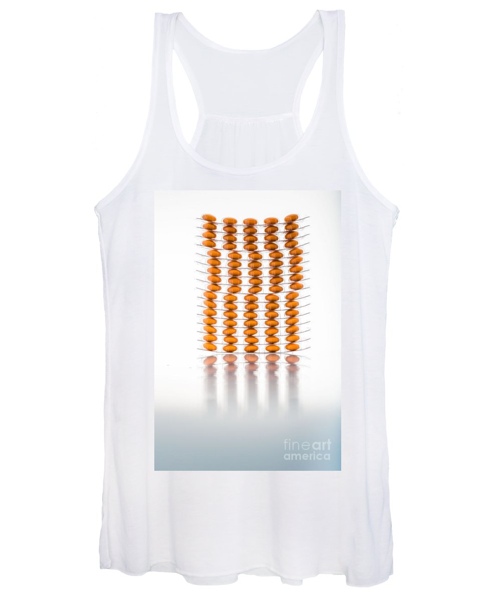 Borage Women's Tank Top featuring the photograph Nutritional Supplement Capsules by Voisin/Phanie