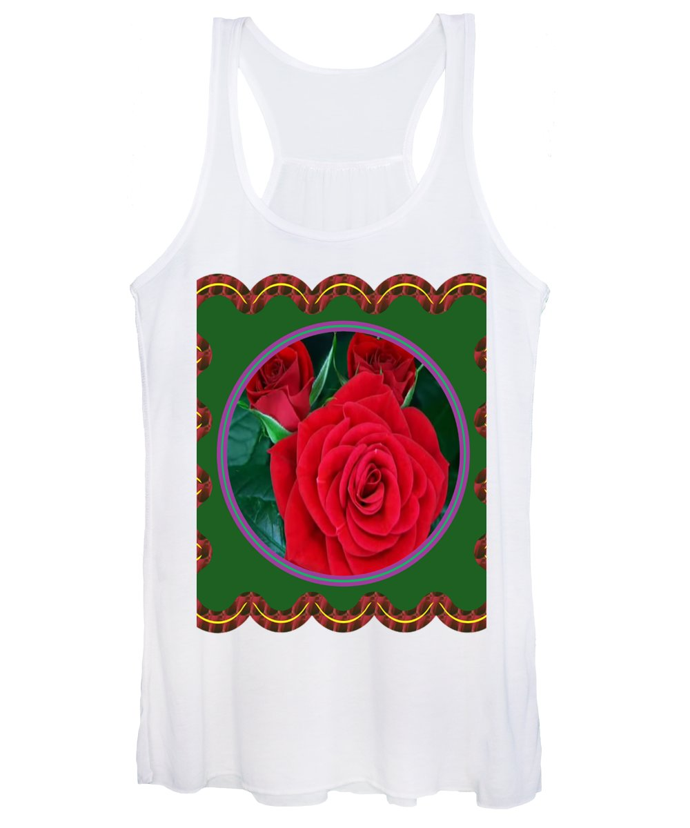 Flowers Women's Tank Top featuring the photograph Rose Flower Floral Posters Photography And Graphic Fusion Art Navinjoshi Fineartamerica Pixels by Navin Joshi