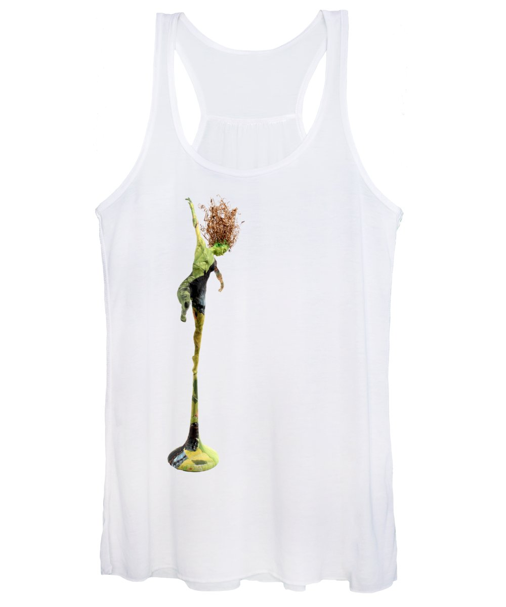 T-shirt Women's Tank Top featuring the mixed media Spread Wings by Adam Long