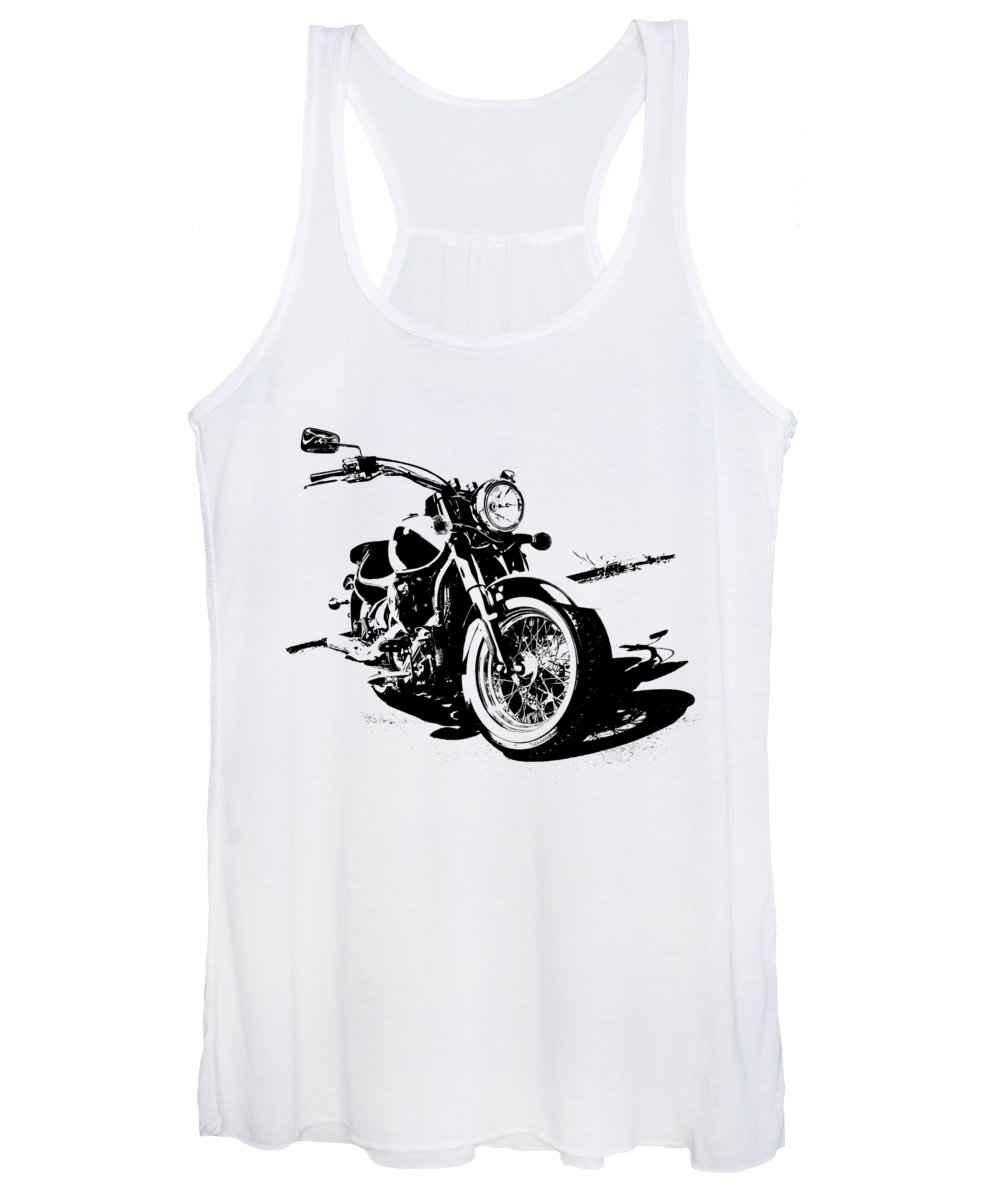 2013 Women's Tank Top featuring the digital art 2013 Kawasaki Vulcan Classic Graphic by Melissa Smith