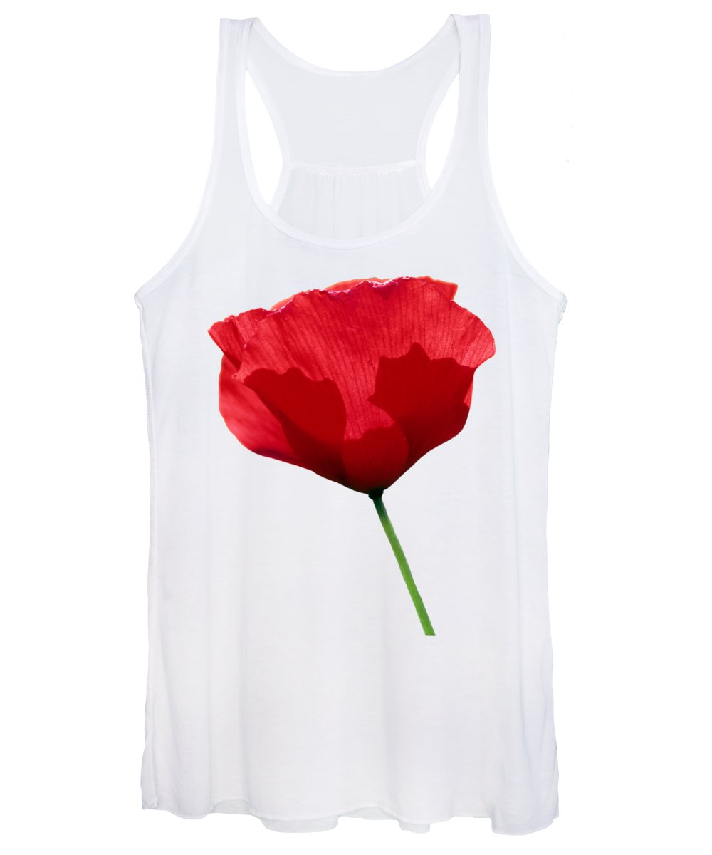 Poppy; Corn Poppy; Papaver Rhoeas; Red; Flower; Wild; Plant; Spring; Flowers; Photograph; Photography; Springtime; Season; Nature; Natural; Natural Environment; Flora; Bloom; Blooming; Blossom; Blossoming; Color; Colorful; Country; Countryside; Macro; Close-up; Detail; Details; Poppies; T-shirts; Slim Fit T-shirts; V-neck T-shirts; Long Sleeve T-shirts; Sweatshirts; Hoodies; Youth T-shirts; Toddler T-shirts; Baby Onesies; Women's T-shirts; Women's V-neck T-shirts; Junior T-shirts Women's Tank Top featuring the photograph Poppy Flower by George Atsametakis