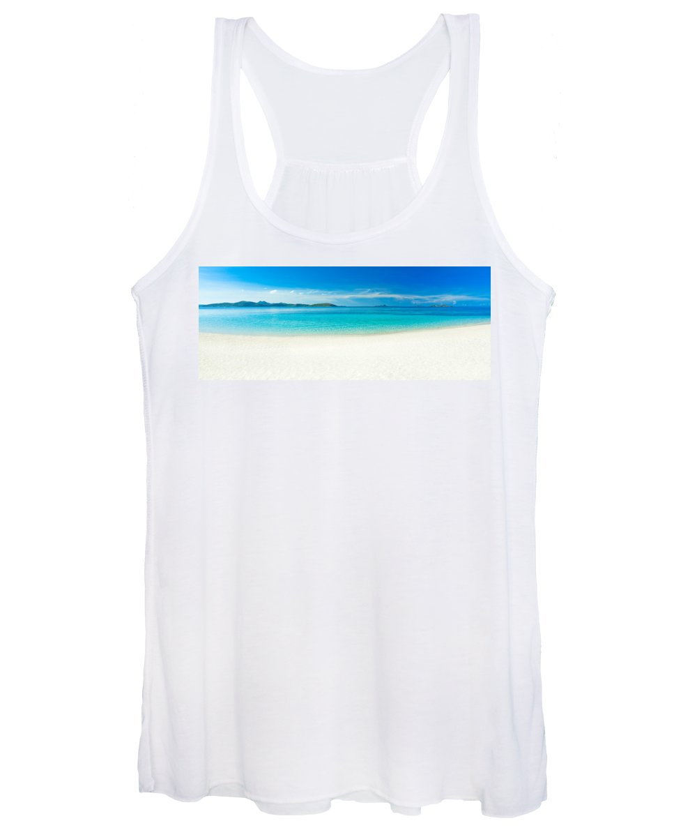 Sea Women's Tank Top featuring the photograph Beach Panorama by MotHaiBaPhoto Prints