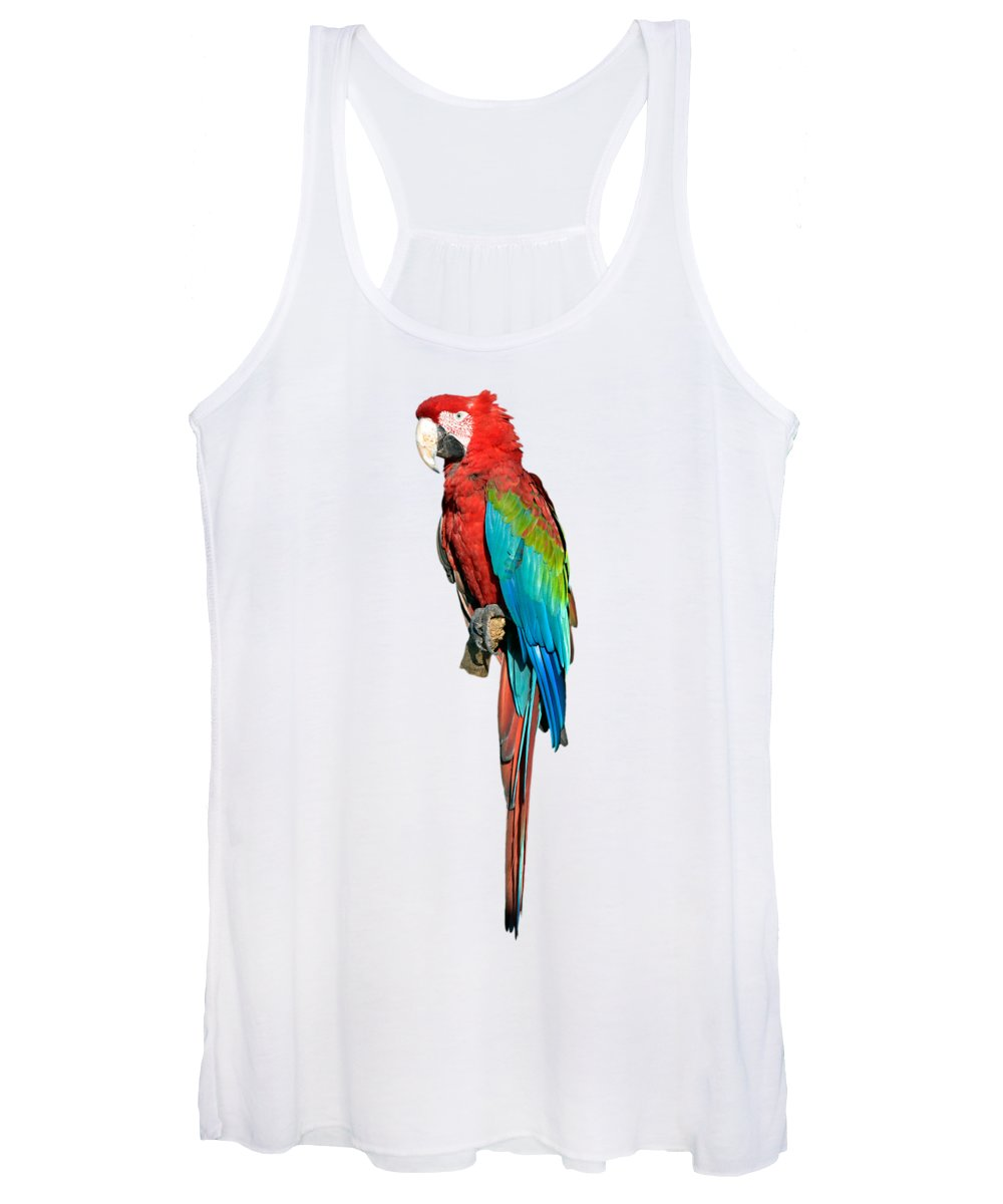 Red And Green Macaw Women's Tank Top featuring the photograph Red And Green Macaw by George Atsametakis