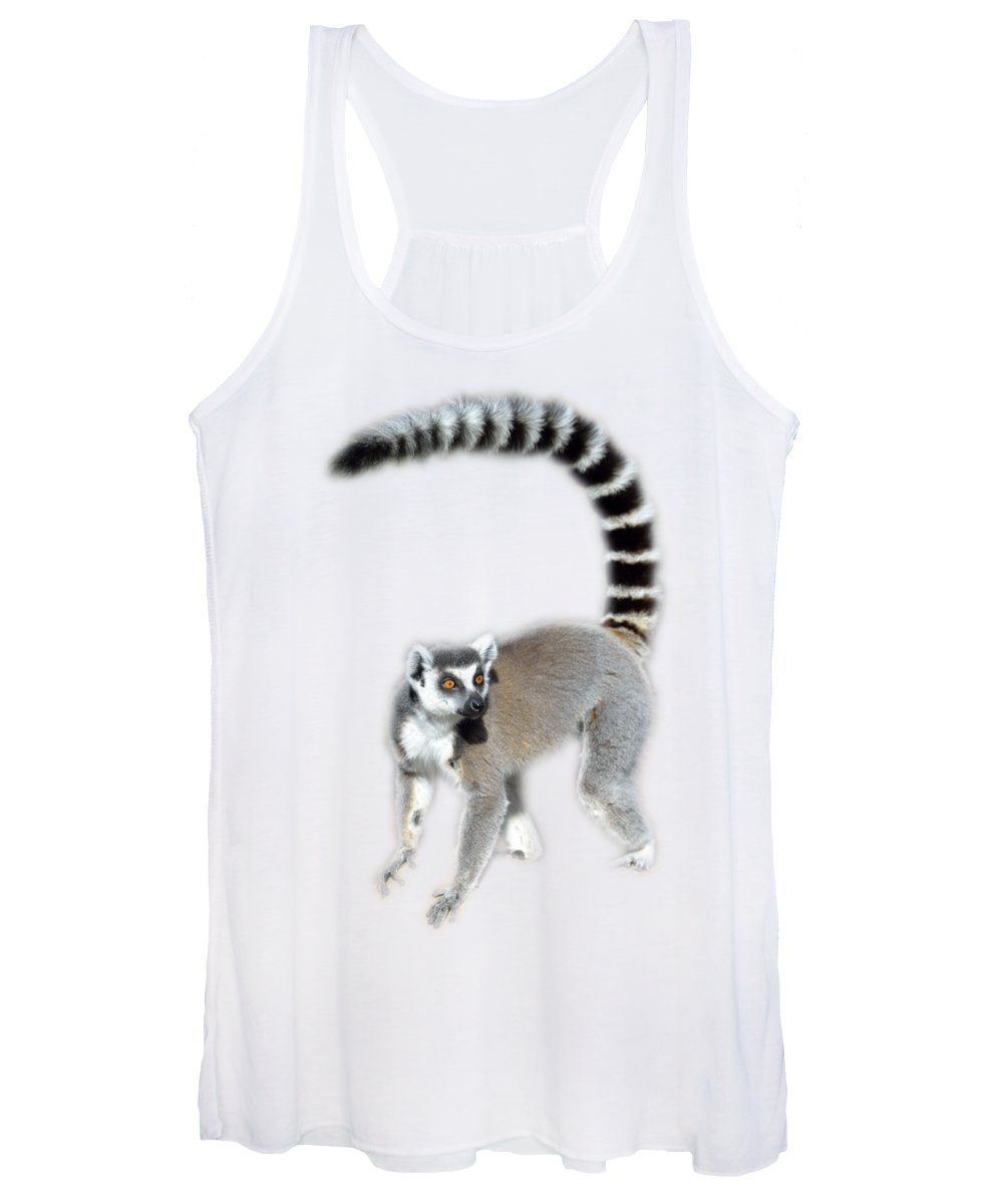 Ring Tailed Lemur Women's Tank Top featuring the photograph Ring Tailed Lemur by George Atsametakis