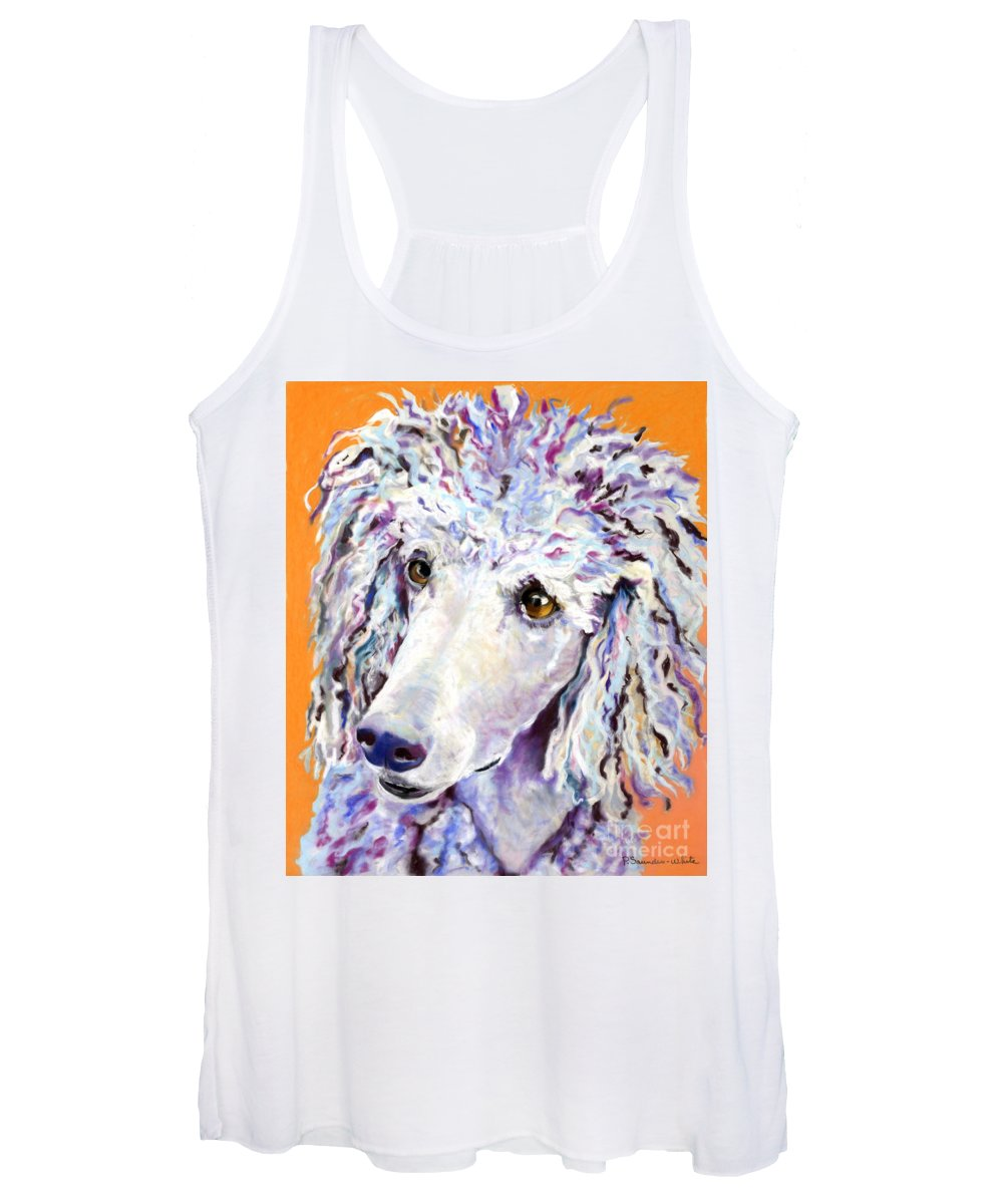 Standard Poodle Women's Tank Top featuring the pastel Above The Standard  by Pat Saunders-White