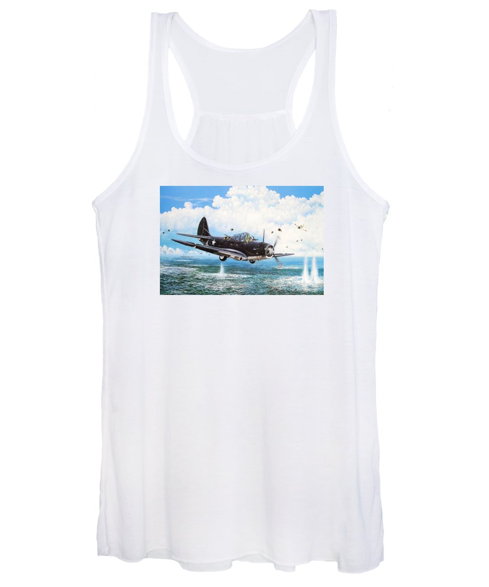 Military Women's Tank Top featuring the painting Against The Odds by Marc Stewart