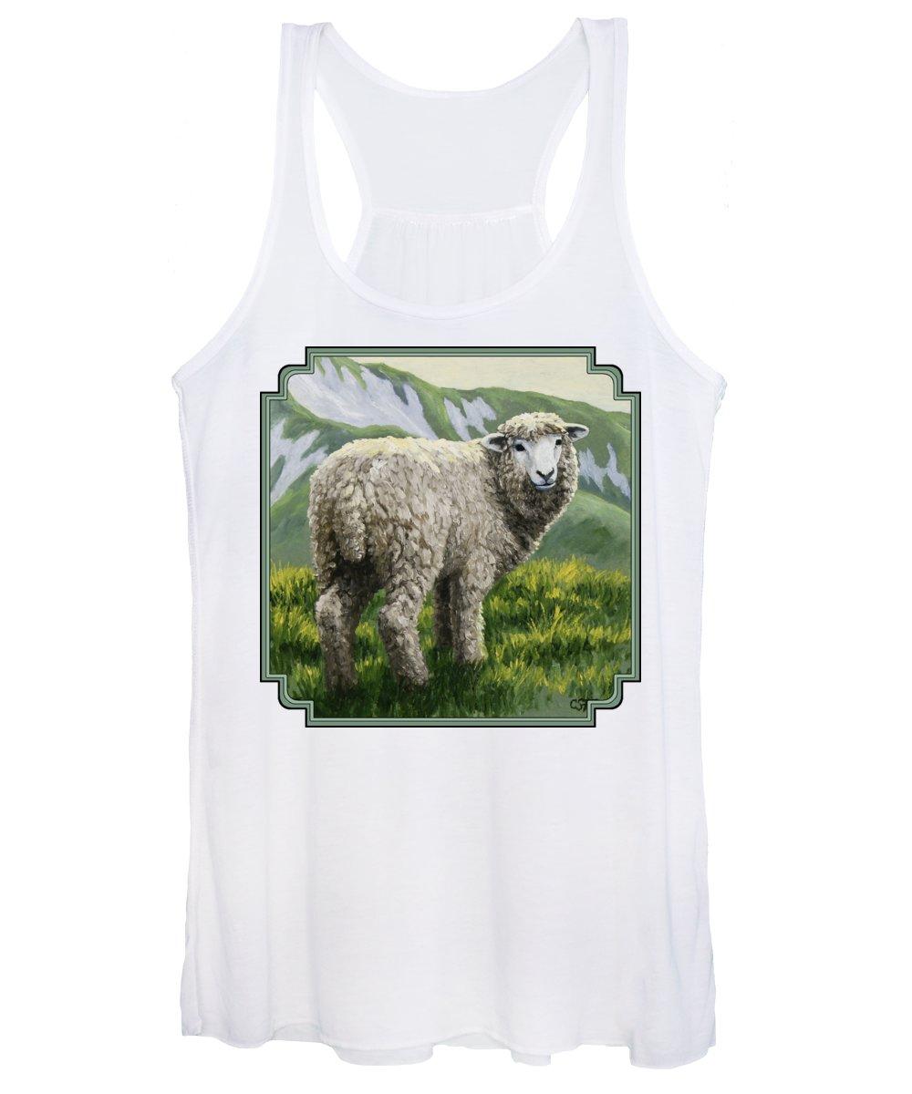 Sheep Paintings Women's Tank Tops