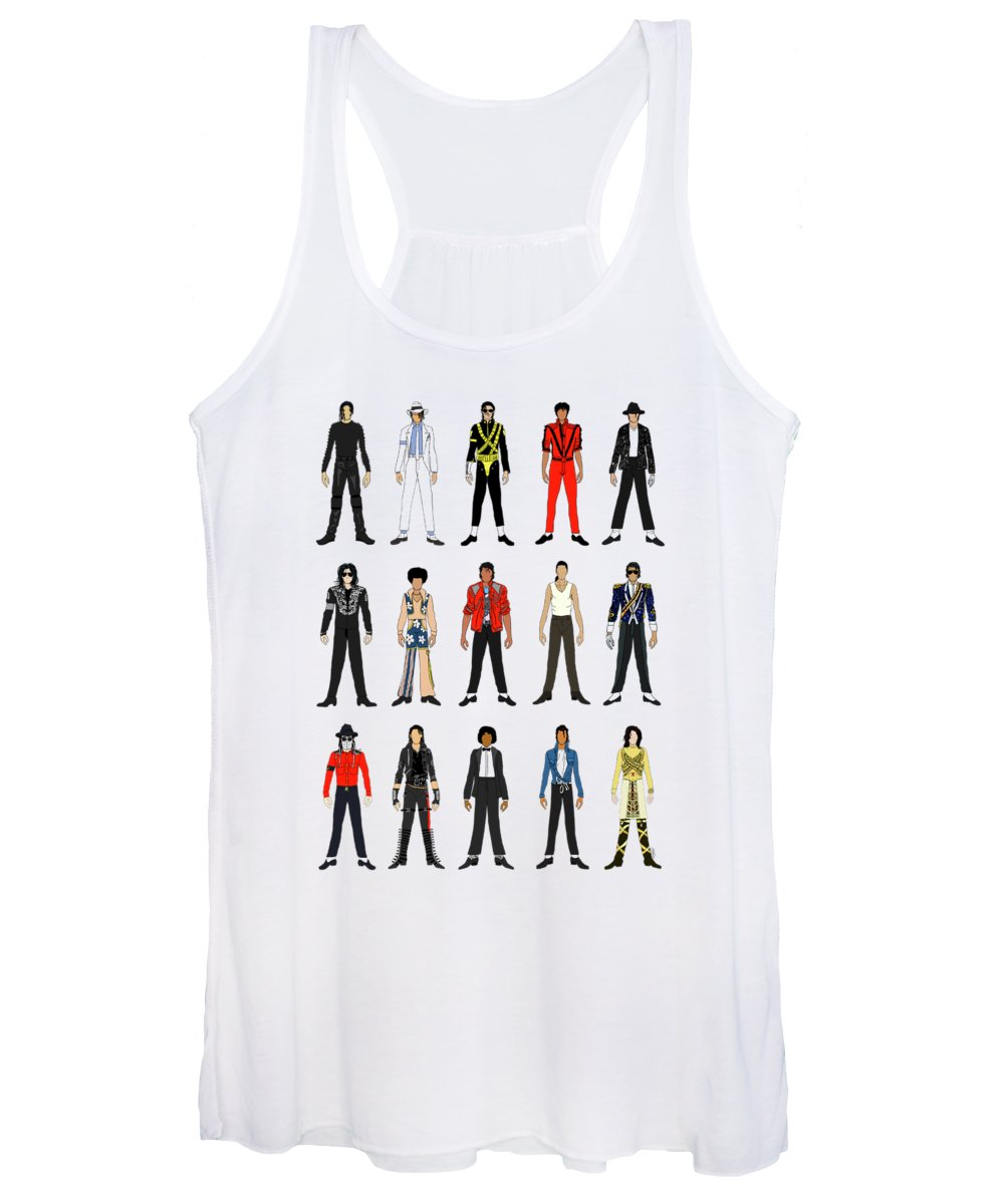 Michael Jackson Women's Tank Top featuring the digital art Outfits of Michael Jackson by Notsniw Art