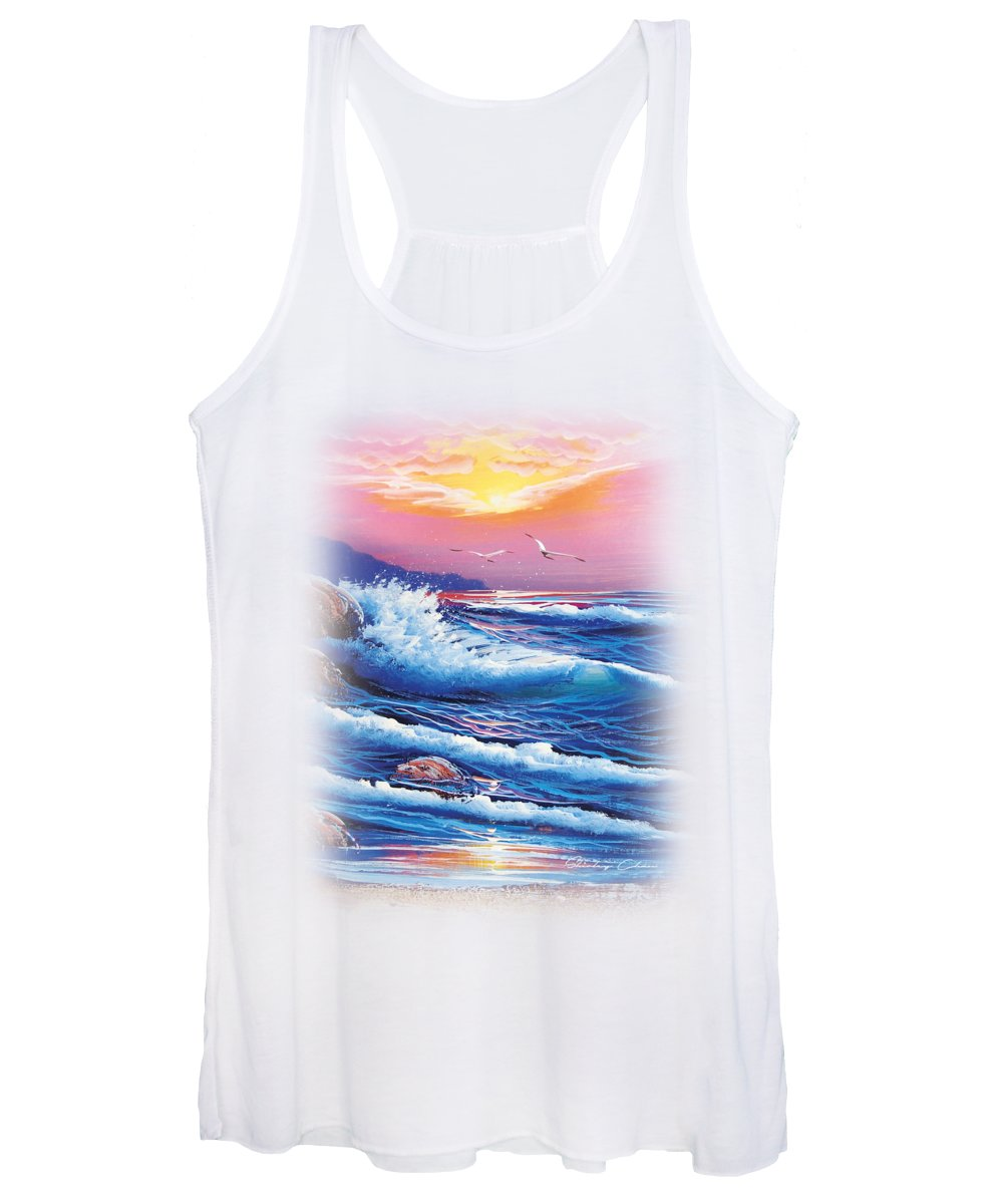 Shirley Women's Tank Top featuring the painting Create Your Own Sunshine by Shirley Chan