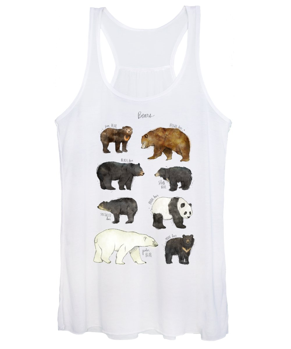 Bear Women's Tank Top featuring the drawing Bears by Amy Hamilton