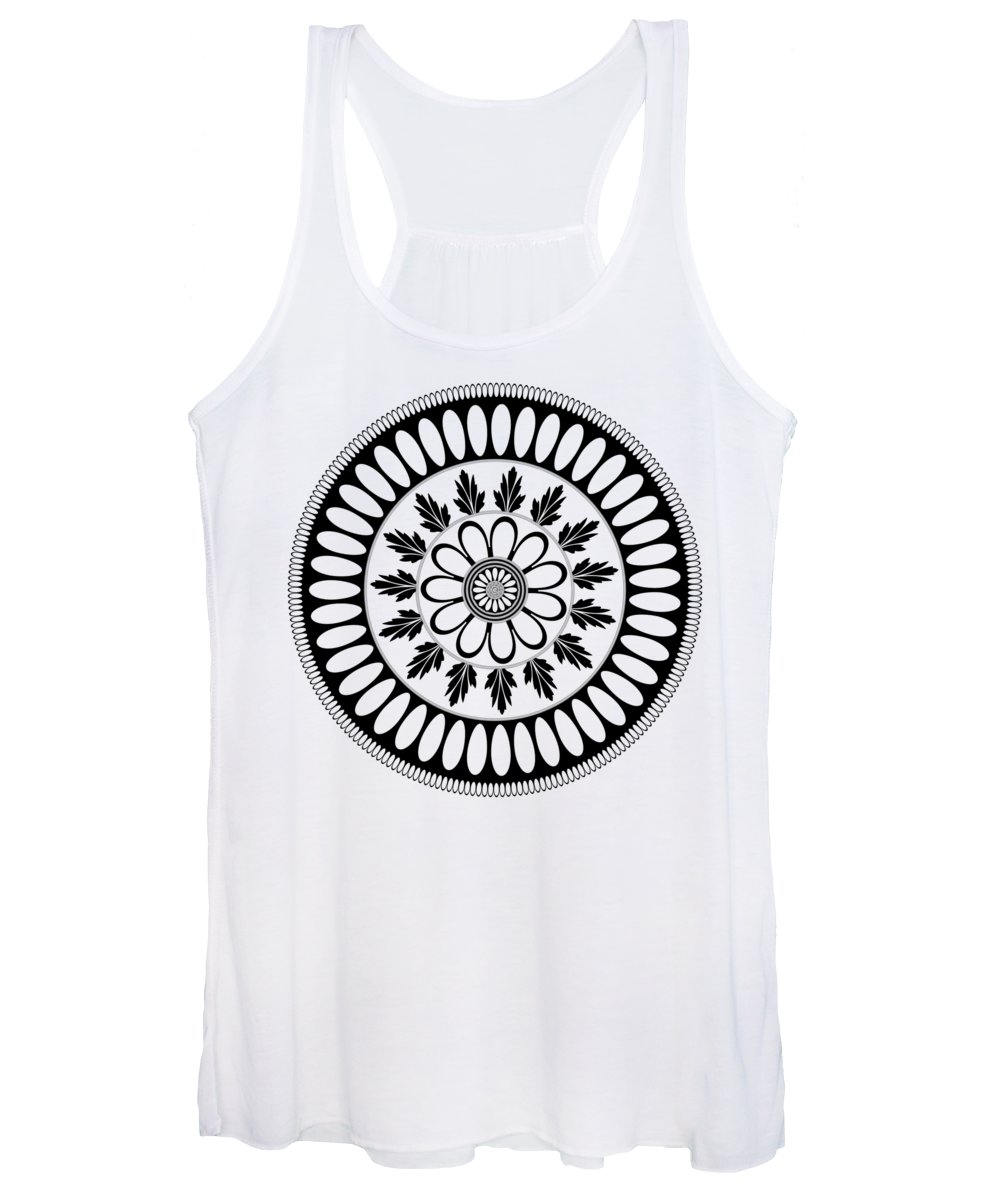 Botanical Ornament Women's Tank Top featuring the drawing Botanical Ornament by Frank Tschakert