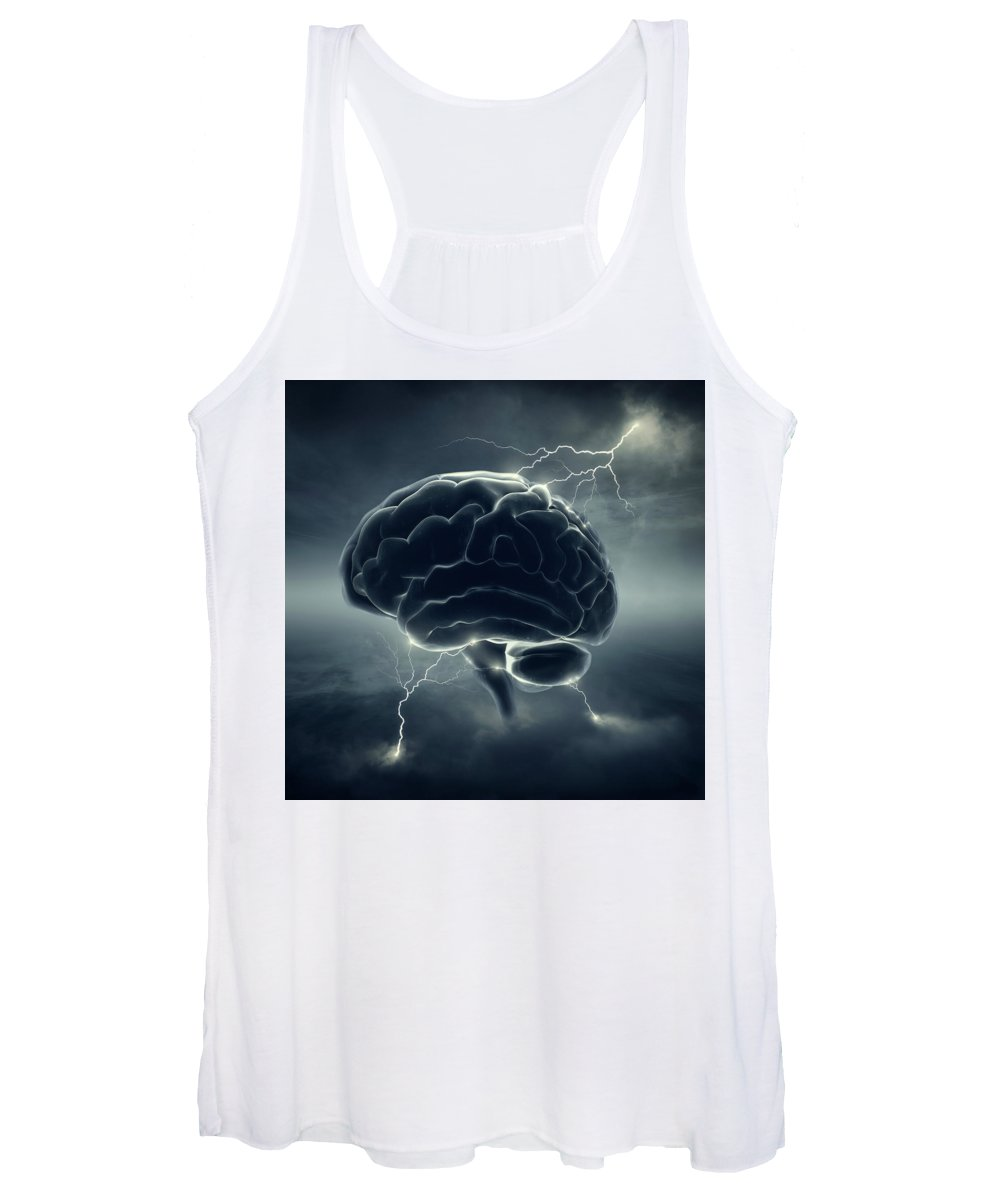Brain Women's Tank Top featuring the photograph Brainstorm by Johan Swanepoel