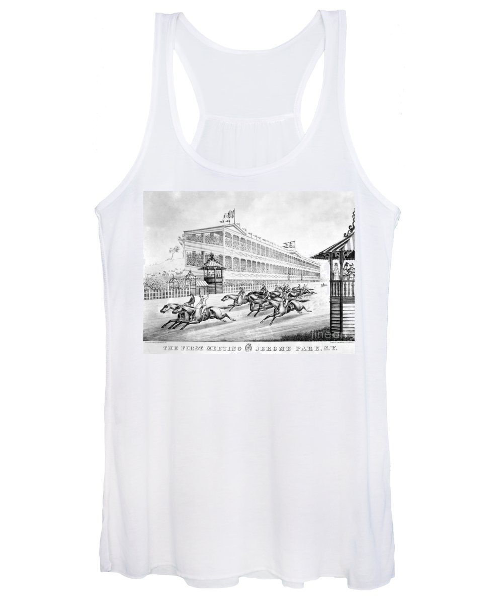 1866 Women's Tank Top featuring the photograph Bronx: Horse Race, 1866 by Granger