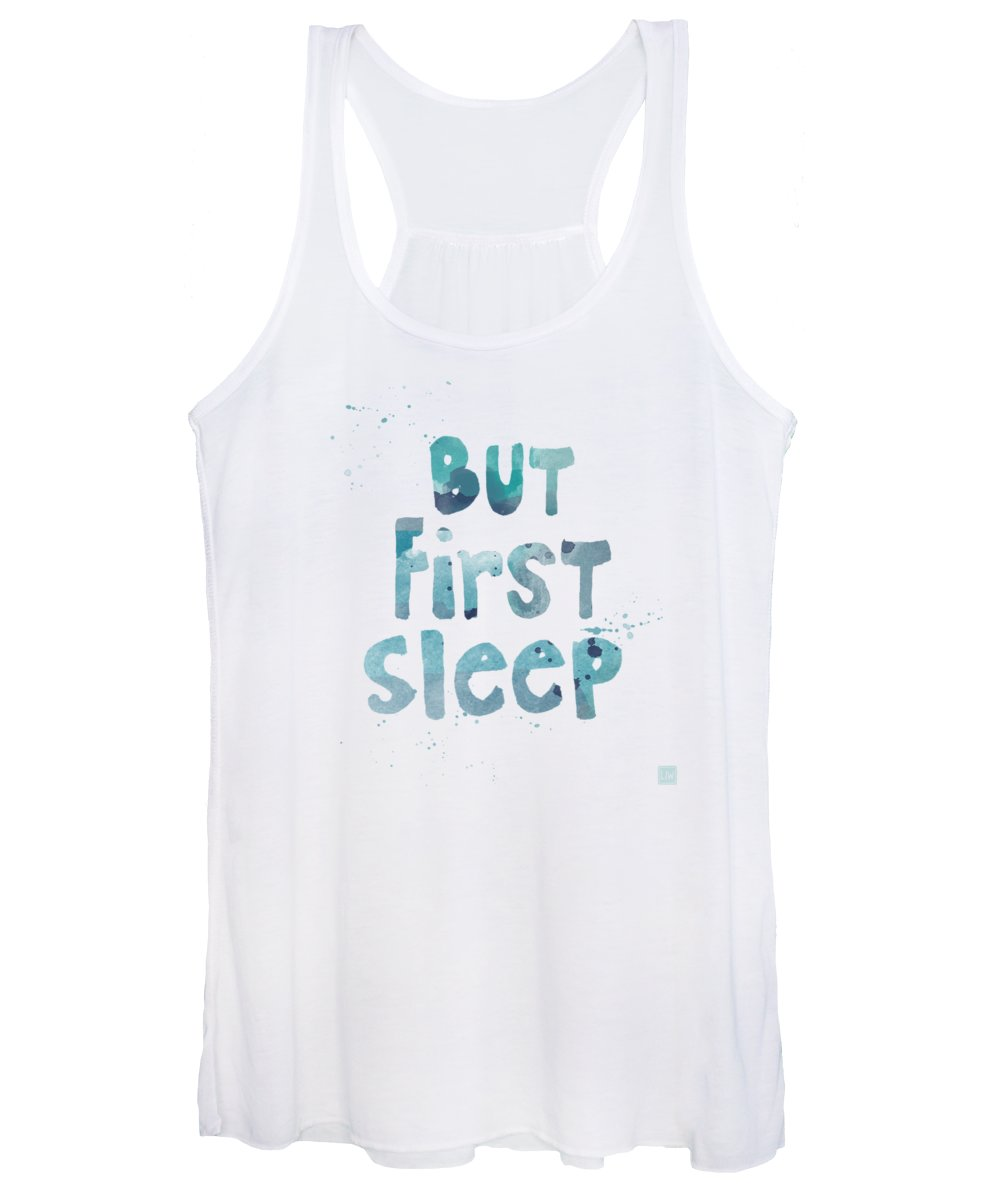 Sleep Women's Tank Top featuring the painting But First Sleep by Linda Woods