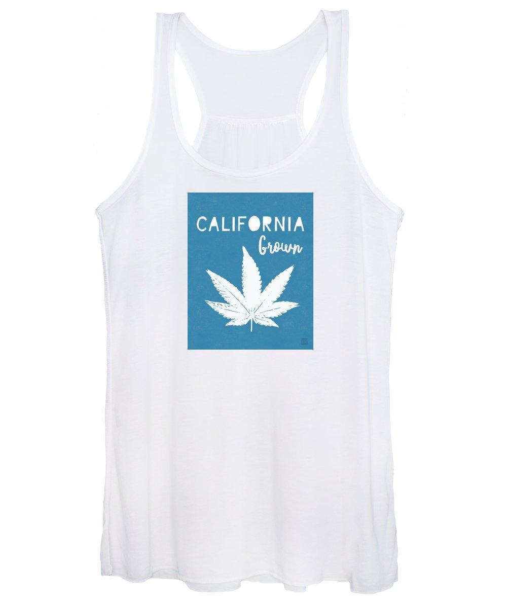 California Women's Tank Top featuring the digital art California Grown Cannabis- Art by Linda Woods by Linda Woods