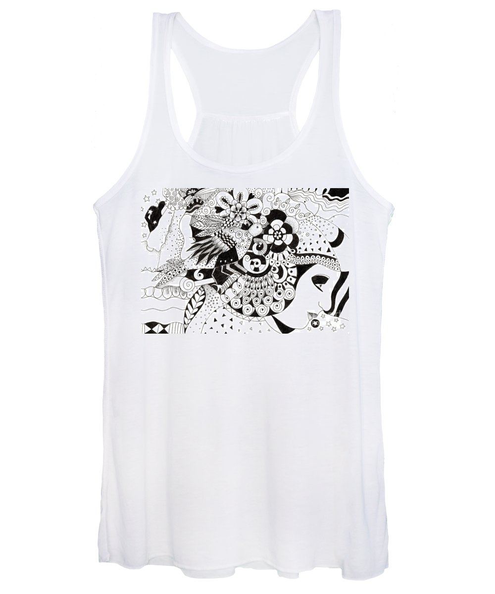 Organic Abstraction Drawings Women's Tank Tops