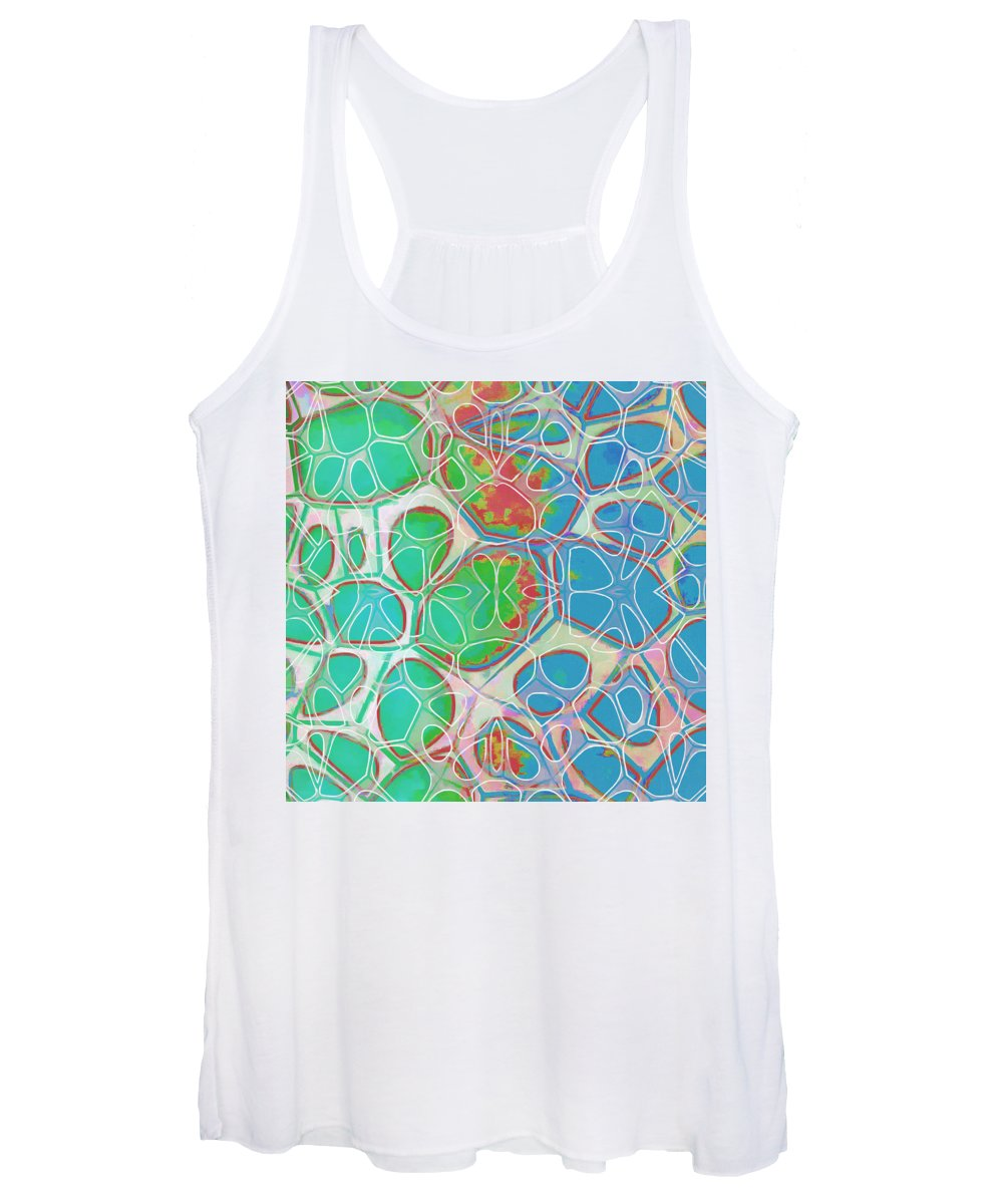 Painting Women's Tank Top featuring the painting Cell Abstract 10 by Edward Fielding