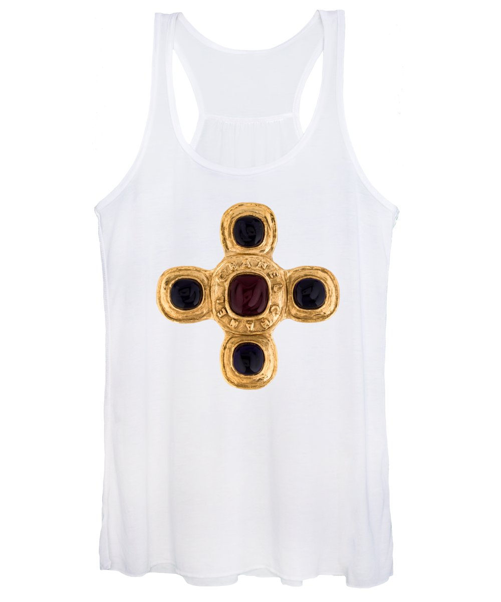 Chanel Women's Tank Top featuring the painting Chanel Jewelry-12 by Nikita