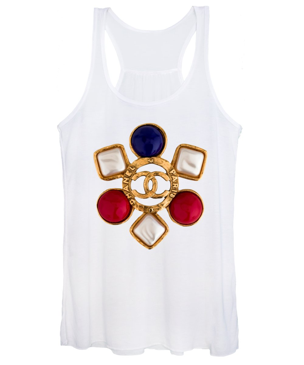 Chanel Women's Tank Top featuring the painting Chanel Jewelry-14 by Nikita