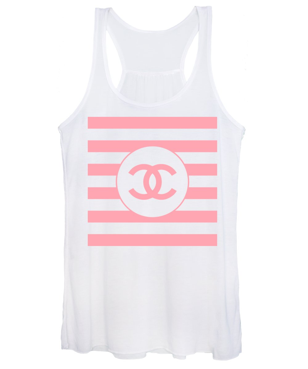 Pink And White Digital Art Women's Tank Tops
