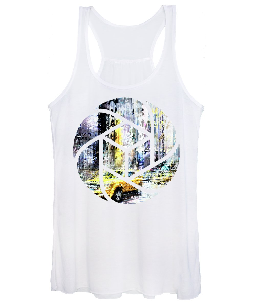 7th Women's Tank Top featuring the photograph City-art Times Square Streetscene by Melanie Viola