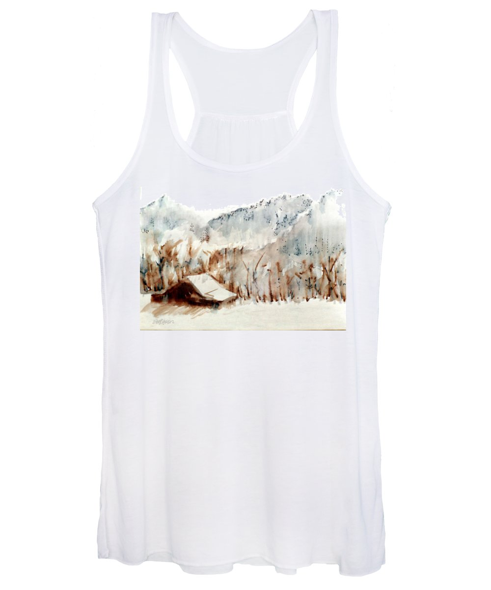 Cold Cove Women's Tank Top featuring the mixed media Cold Cove by Seth Weaver