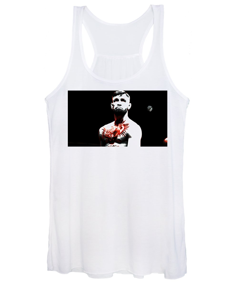Conor Mcgregor Women's Tank Top featuring the mixed media Conor Mcgregor The Ultimate Warrior by Brian Reaves