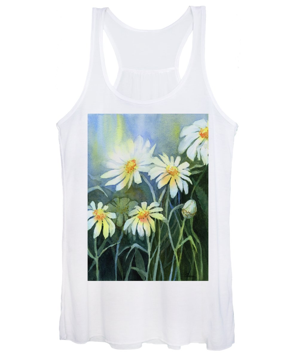 White Flower Paintings Women's Tank Tops
