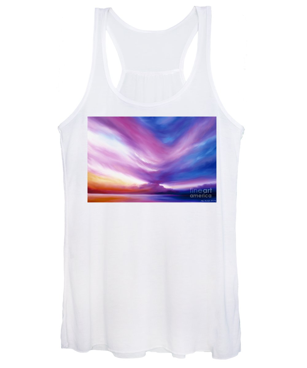 Clouds Women's Tank Top featuring the painting Ecstacy by James Christopher Hill