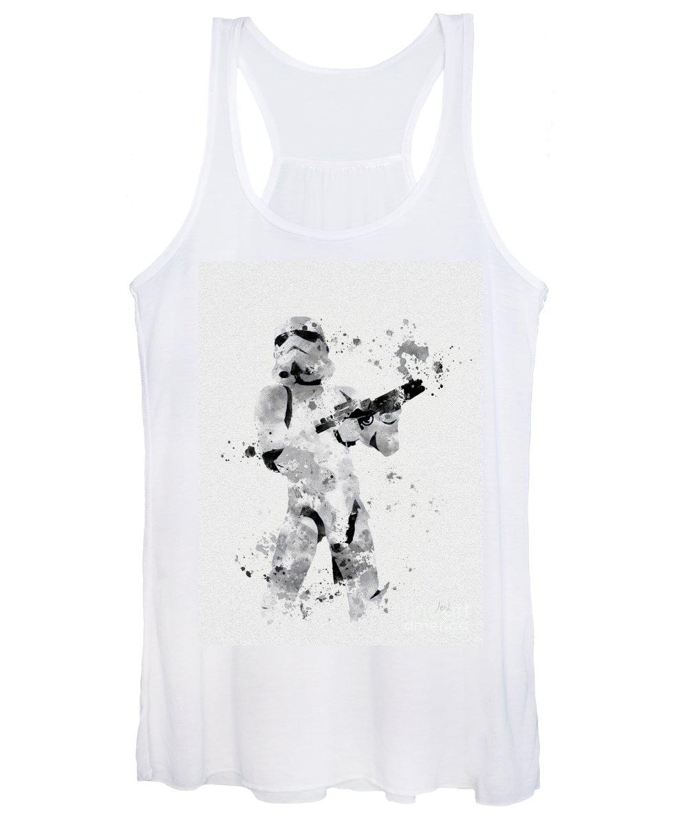 Star Wars Women's Tank Top featuring the mixed media Faceless Enforcer by My Inspiration