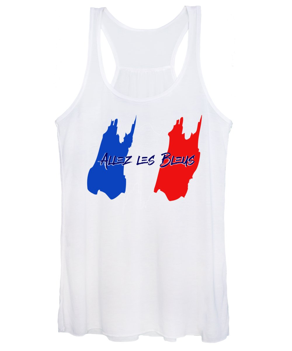 French Women's Tank Top featuring the digital art Go France by Antique Images