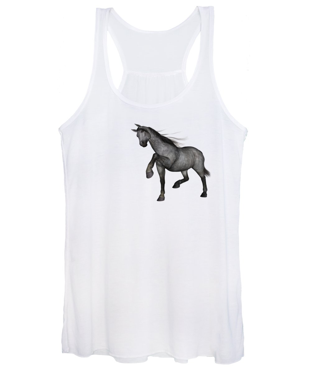 Horse Women's Tank Top featuring the digital art Joaquin by Betsy Knapp