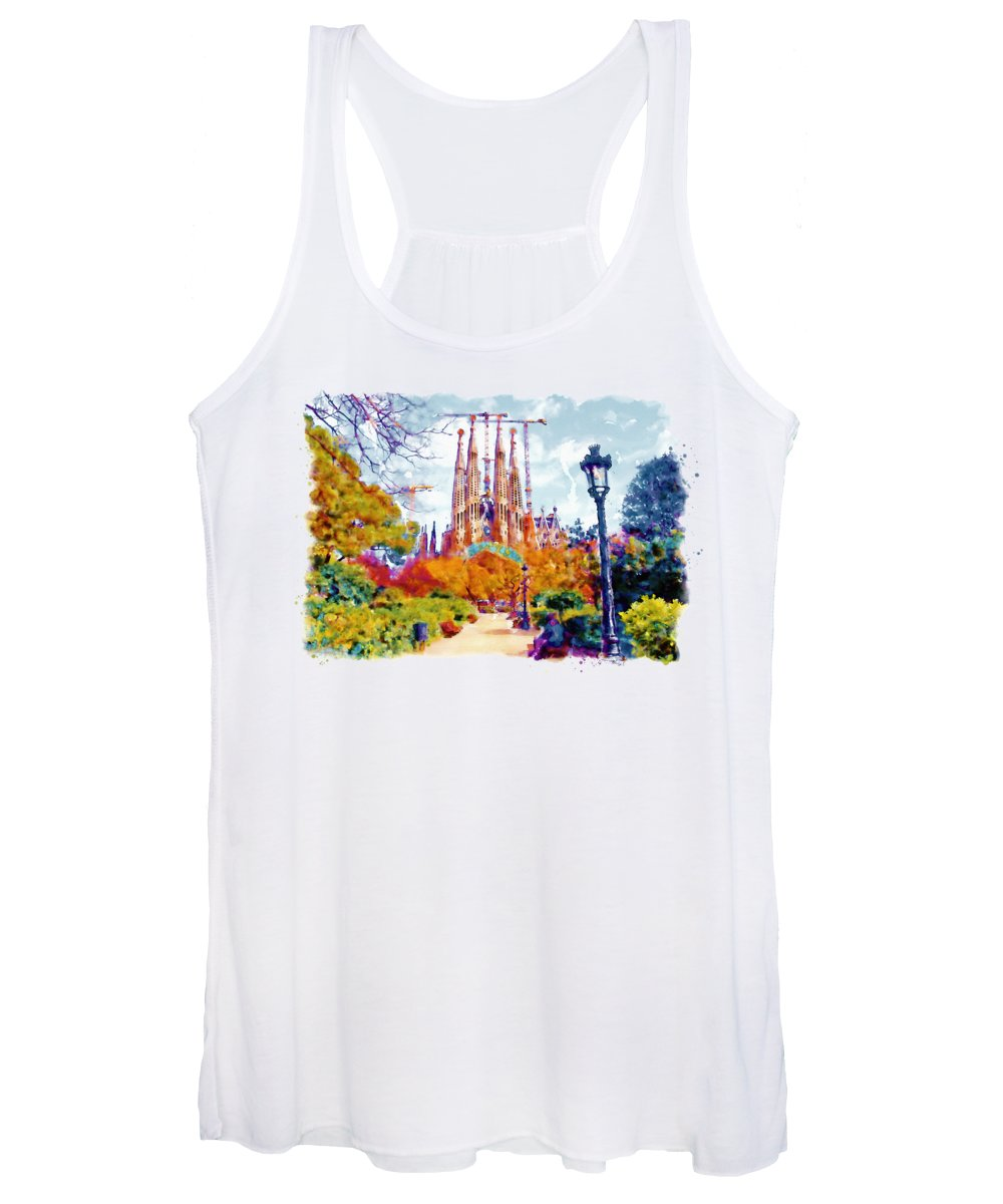 Churches Paintings Women's Tank Tops