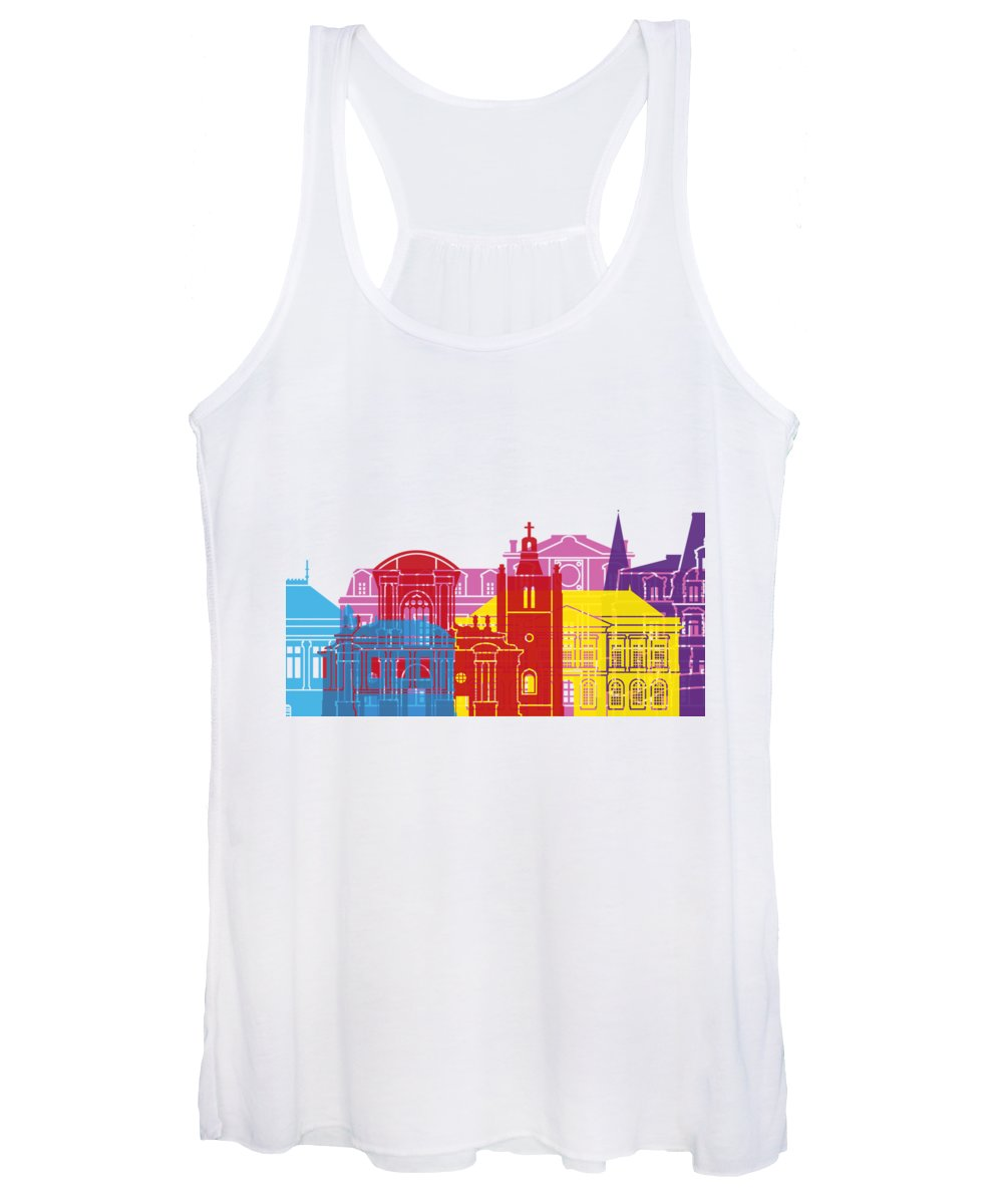 Le Havre Women's Tank Top featuring the painting Le Havre Skyline Pop by Pablo Romero